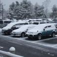 車も雪まみれ