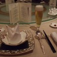夕食は中華