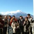 富士山バックで集合!