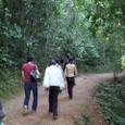 プノン・バケン山道を登る